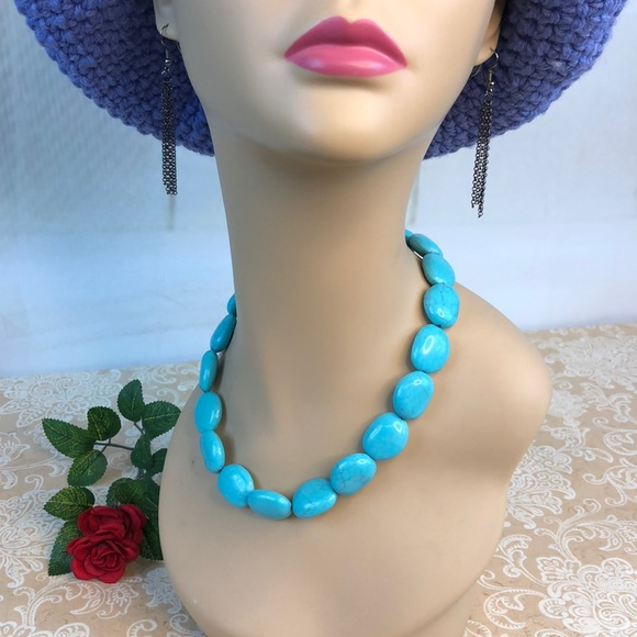 Chaps Jewelry - Chaps Costume Turquoise Choker Necklace